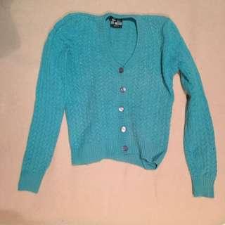 Turquoise Woollen Cardigan