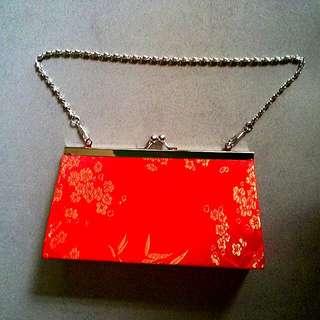 Oriental Red Purse or Clutch Bag