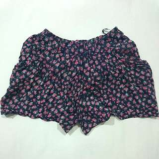 Floral Skirt Shorts