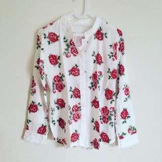 New - Flowery Print Shirt