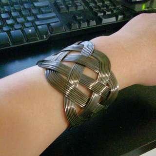 Silver Woven Cuff/Bracelet