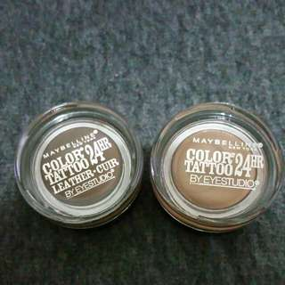 Maybelline Color Tattoo Bad  To Bronze & Chocolate suede