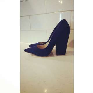 Faith Blue Pointed Heels
