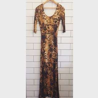 Bardot Maxi Leopard Print Dress