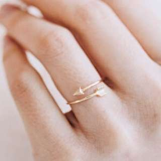 Gold Arrow Ring Perfect For Layering