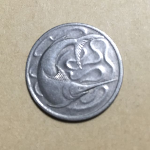 外國錢幣新加坡1967年旗魚20硬幣1976年海馬10硬幣