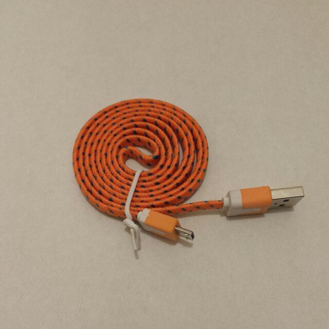 1m Micro USB Cable - Orange