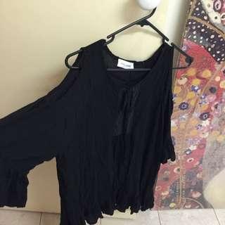 Off Shoulder Dress Black