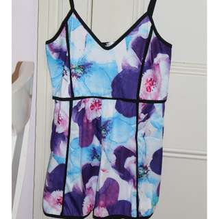 Colourful Printed playsuit womens Adults small