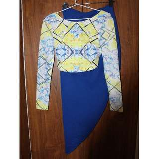 Designer customs made two piece set womens small size 8