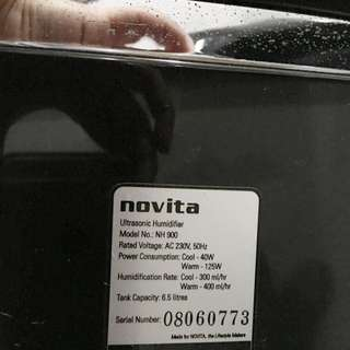 (Reserved) Novita Ultrasonic Humidifier