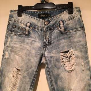 Acid Wash Ripped Jeans Size 6