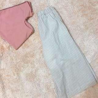 🇯🇵(含運)日本購入 挺版顯瘦直紋寬褲