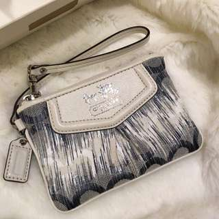 [HOLD] Coach Limited Edition Denim Graffiti Ombré Wristlet