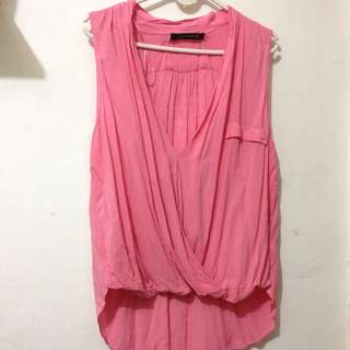 Zara Blouse Top Shirt Sleeveless