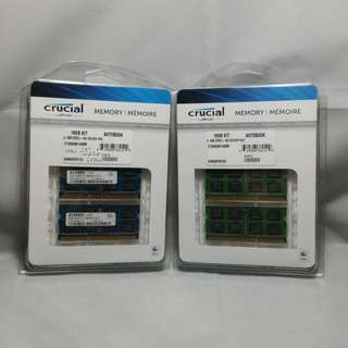 Kingston And Elpida DDR3 SODIMM PC10600 12GB RAM 6PCS AT 2GB Each Laptop iMac PC