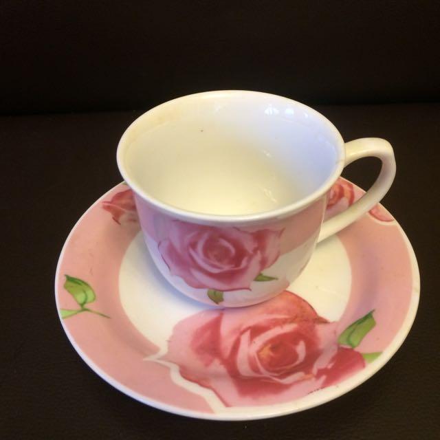 玫瑰花茶杯組