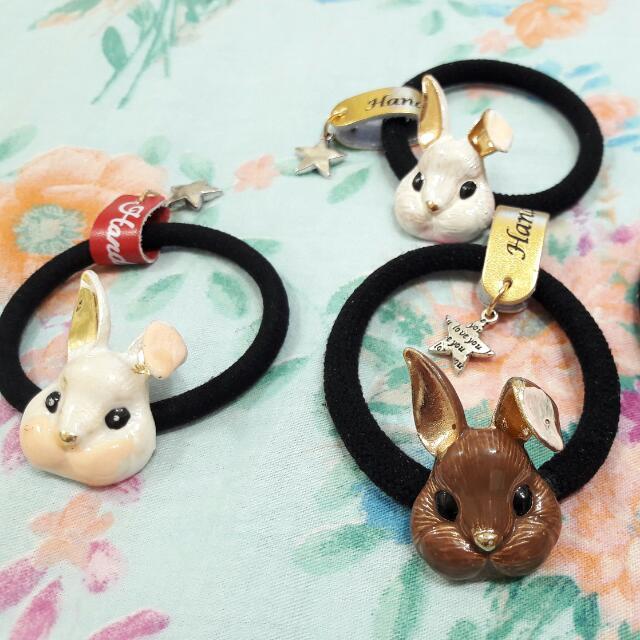 質感兔兔 髮圈