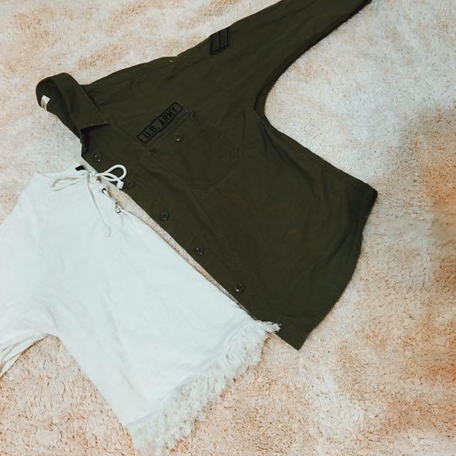 🇯🇵日本購入 軍綠色襯衫外套