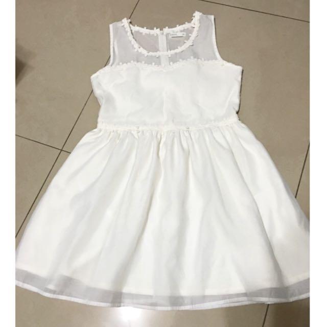 全新含運 Pazzo 約會首選領口透膚澎紗性感氣質婚禮小洋裝