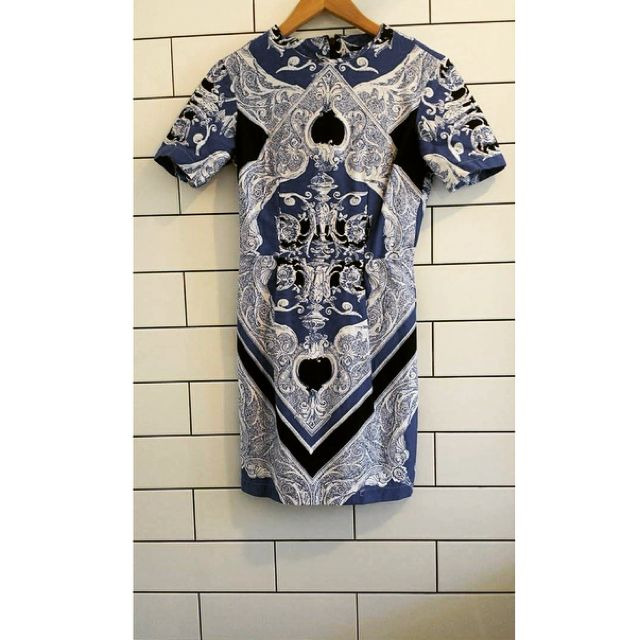 Asos Blue And White Mini Dress