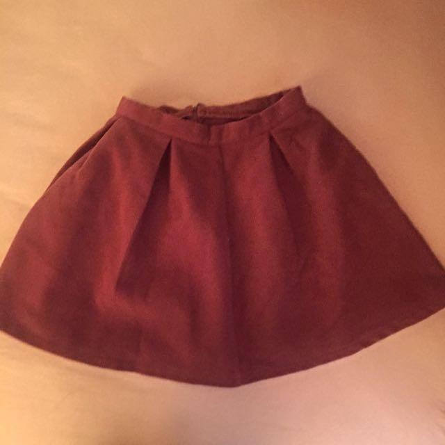 Asos Burgandy Skirt