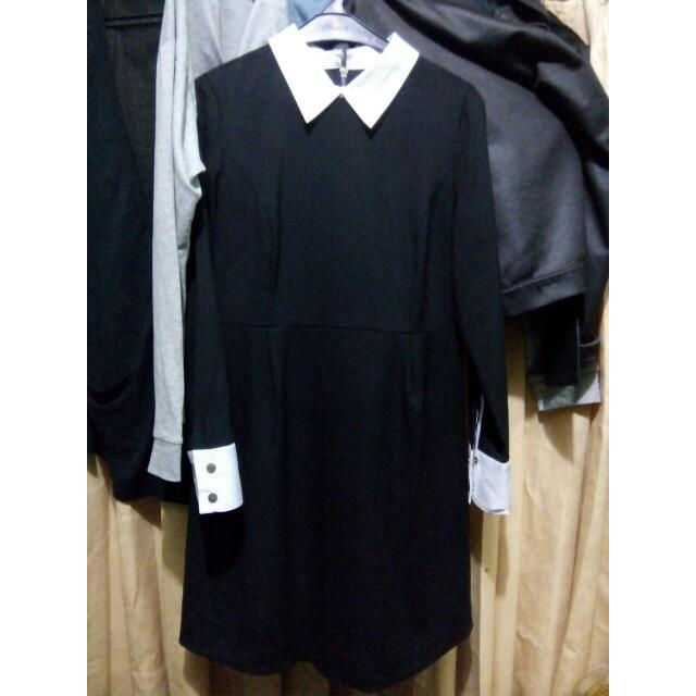Black and White Collar Dress