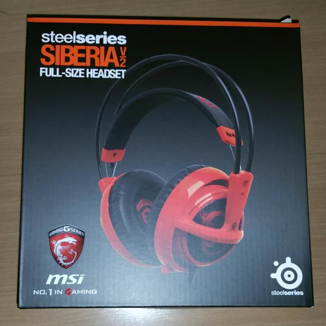 Brand New MSI SteelSeries SIBERIA V2 Full-Size HEADSET - $80