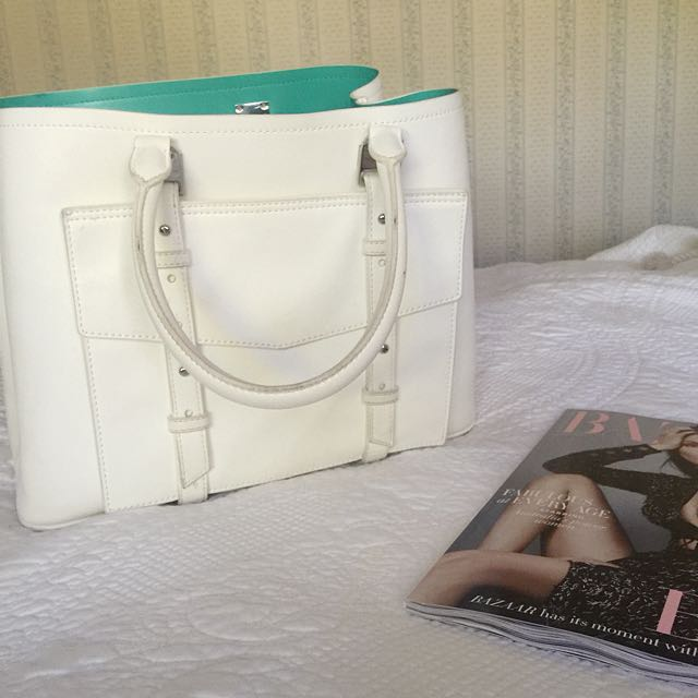 Charles & Keith White Hand Bag