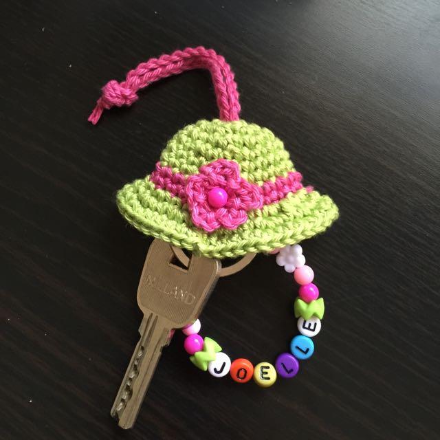 33652fd798887c Crochet + Personalized Beads Keychain