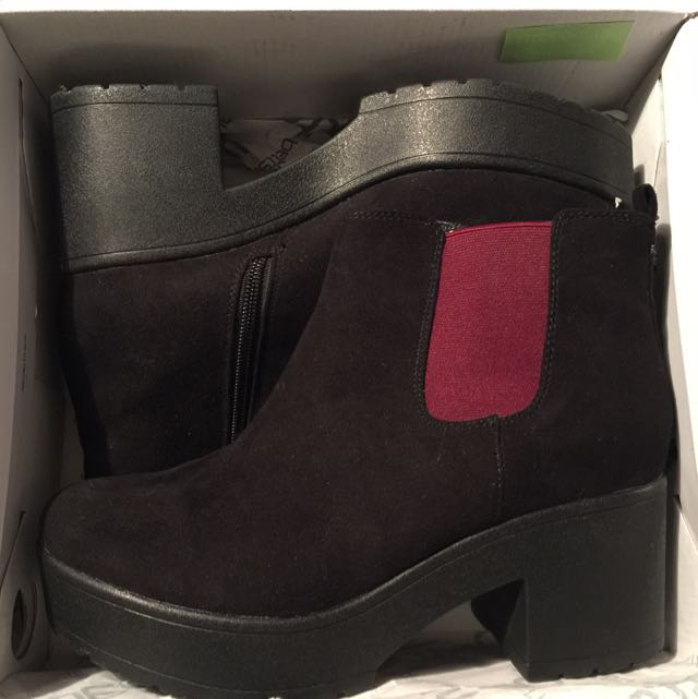 Drake Black/maroon Ankle Boots Size 8