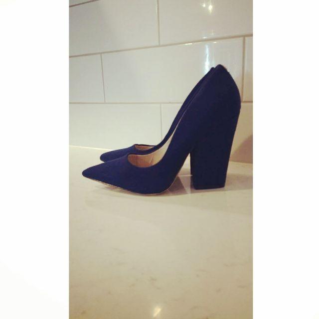 Faith Blue Pointed Heels