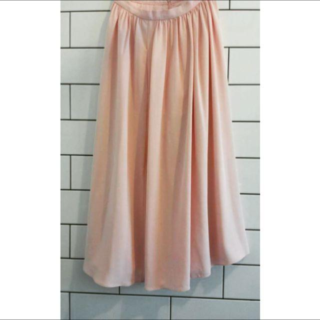 Forever New Midi Pink Skirt