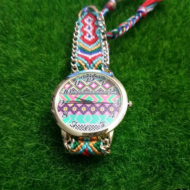 handmade braided aztec watch