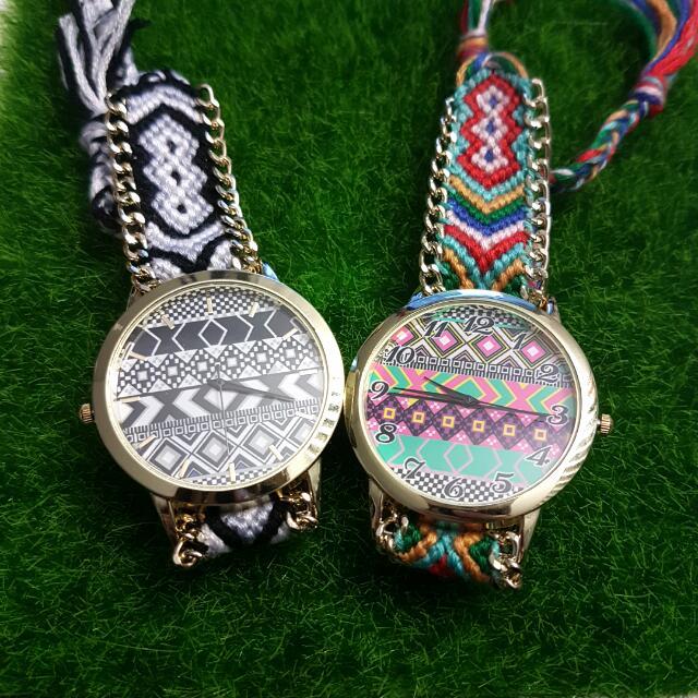 handmade braided friendship watch