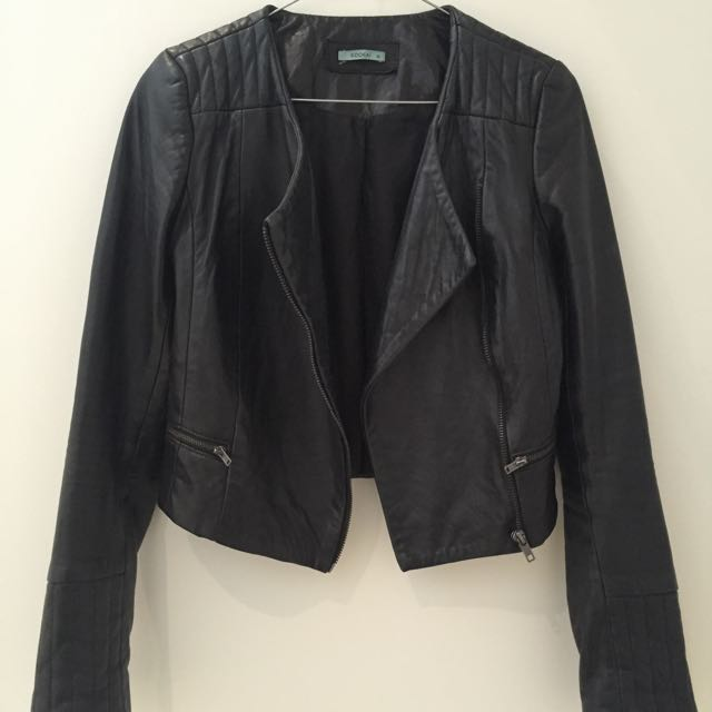 Kookai Leather Biker Jacket