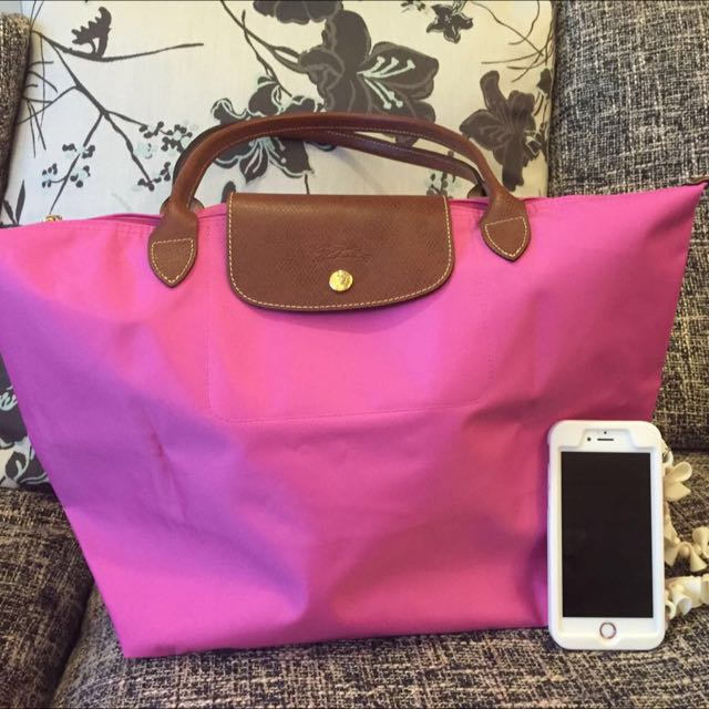 Longchamp 長柄M size桃紫色包 全新、歐洲帶回 售2500元