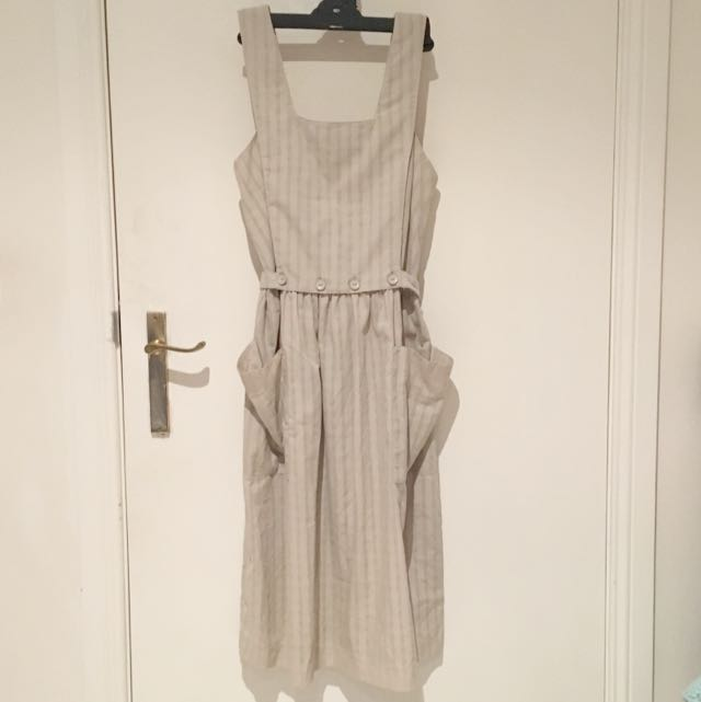 Midi Khaki Picnic Dress