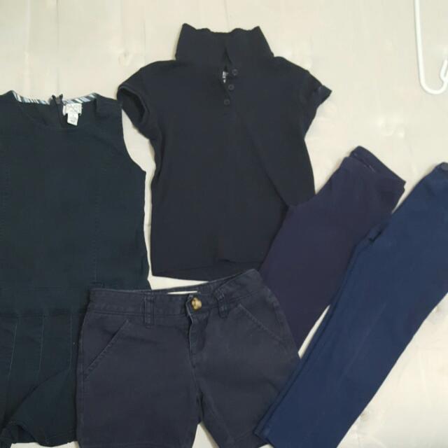 Navy Blue Kids Uniform Clothes