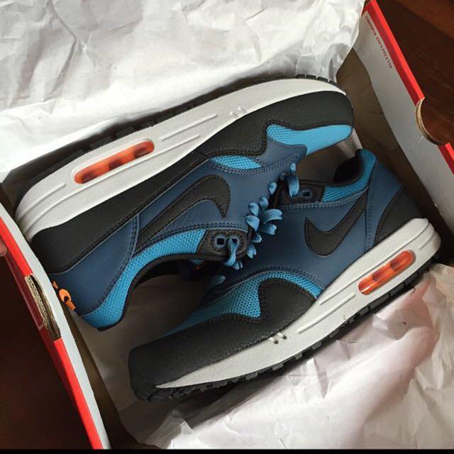 lowest price 55e0a 7044e Nike Air Max 1 Essential Stratus Blue, Fesyen Lelaki di Carousell