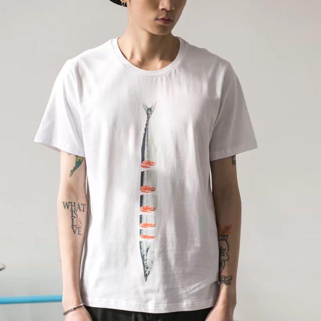 🈂NOTHOMME日系短袖T恤男款沙丁魚