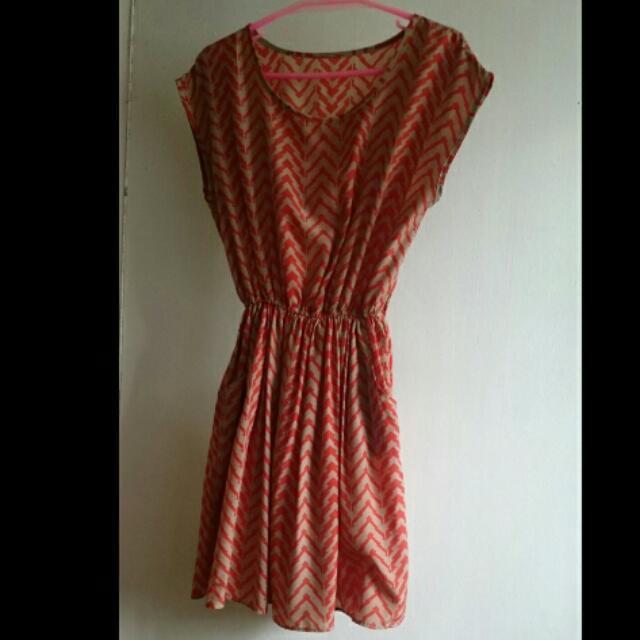 Orange Stripes Dress