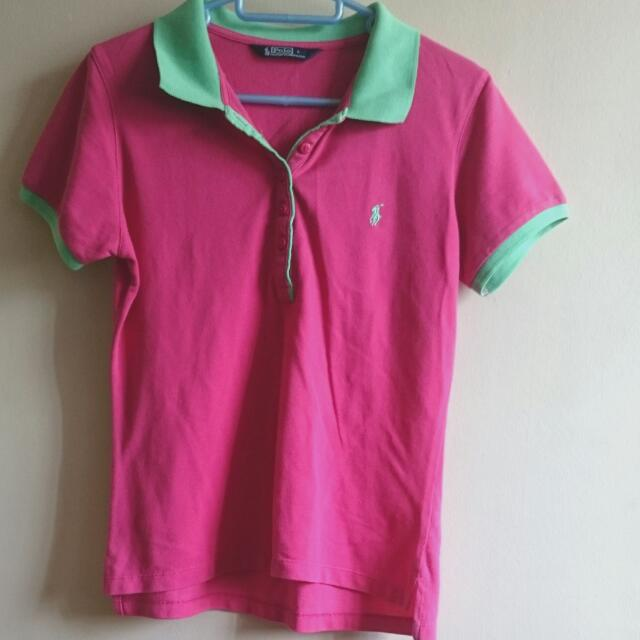 Polo Green Collared T-shirt