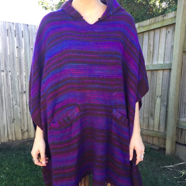 Purple Tree Of Life Poncho