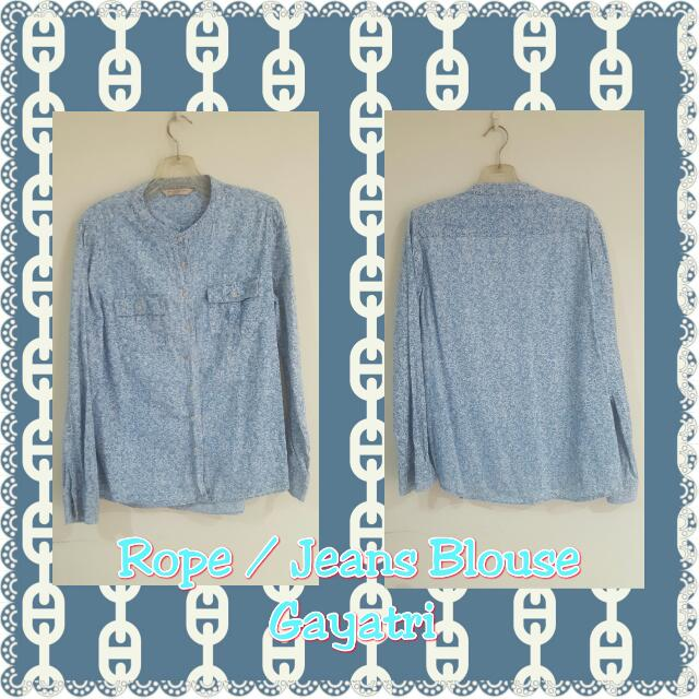 Rope - Flower Jeans Blouse