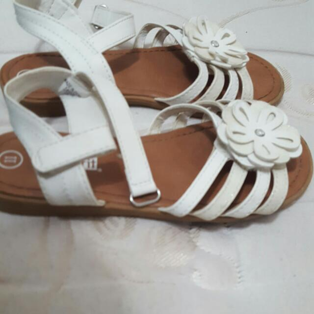 Size 10 Girls NIKE , Black Soda Brand Shoes Size 10/11, White Smart Fit Sandals Size 11