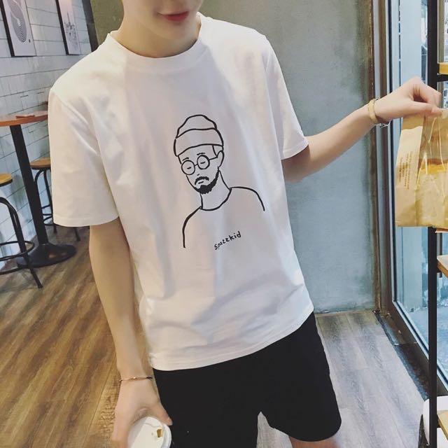 🈂韓國鬍渣男短t
