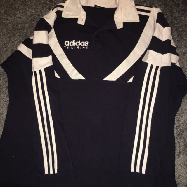 Retro Adidas Rugby Jersey SzM