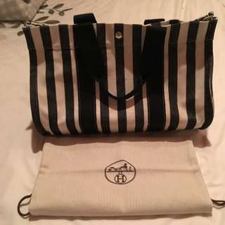 ✨💯 Authentic Hermes Large Canvas Overnight Bag✨