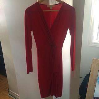 Cherry Red Wrap Dress